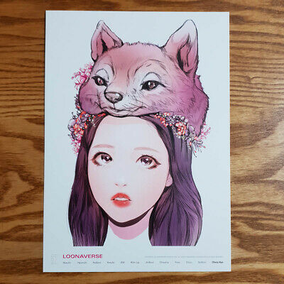 Olivia Hye Loonaverse Concert Official MD Loona Illust Poster Monthly Girl Kpop