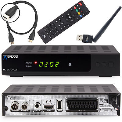 Anadol digitaler Kabel Reciever 202c Plus DVB-C C2 Full HD SCART inkl WLAN Stick