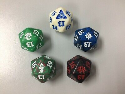 Ravnica Allegiance MTG Set of 5 Guild Spindown D20 Dice NEW