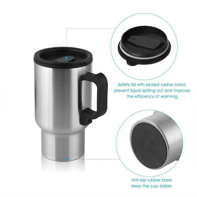 Car Heating Cup Auto 12V Heating Cup Kettle Cars Thermal Heater Cups Mug 450ml