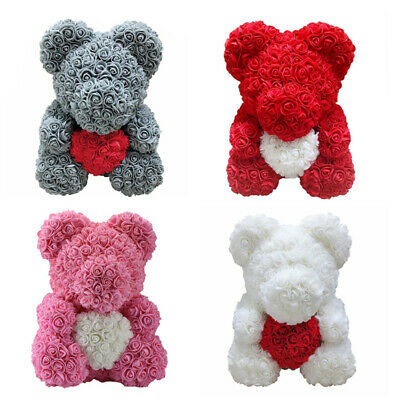 Rose Flower Bear Toys Teddy Birthday Valentine Wedding Anniversary Gift UK