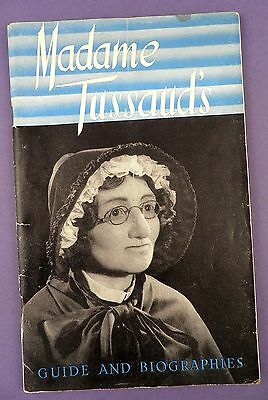 Madame Tussaud's Exhibition - Original Guide and Biographies 1950