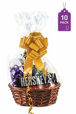 Clear Basket Bags Extra Thick Large Cellophane Bags For Gift