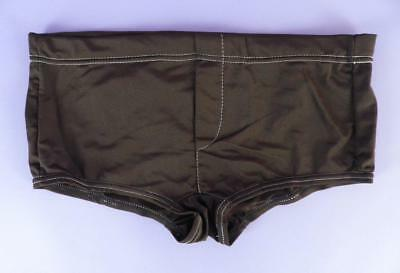 Original Unused Stock, Vintage Coffer Sports Brown Hipster Trunks, Large - ms 17