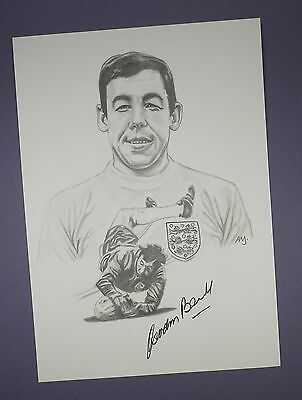 Original Detailed Drawing of Gordon Banks - Personally Hand Signed