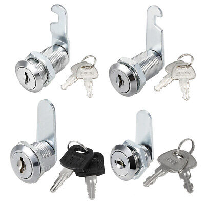 "5/8""/1-1/8"" Cylinder Zinc Alloy Chrome Plated Cam Lock, Keyed Different/Alike"