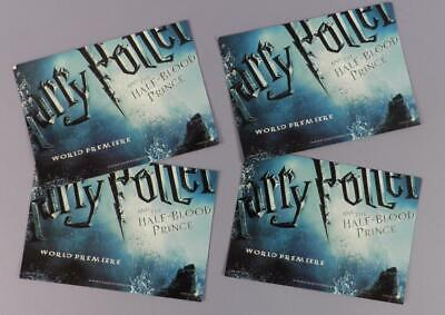 Harry Potter And The Half Blood Prince - 4 Used Tickets For Cast & Crew Cocktail