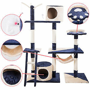 """70"""" Cat Tree Condo Furniture Scratch Post Pet Play House Home Gym Tower"""
