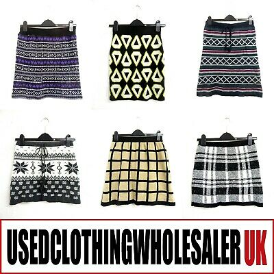 50 Women's Light Knit Wool Skirts Wholesale Clothing Fashion Joblot