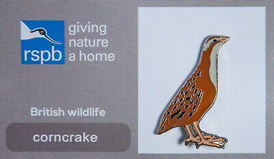 RSPB Pin Badge | corncrake GNAH (00149)
