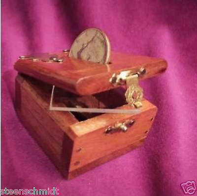 Trick Coin Of The Realm DELUXE Wooden Box Close Up EXAMINABLE Penetration Magic