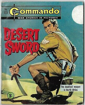 "Dated 1968. COMMANDO War Picture Comic # 373. ""Desert Sword"""