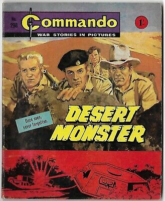 "Dated 1967. COMMANDO War Picture Comic # 298. ""Desert Monster"""
