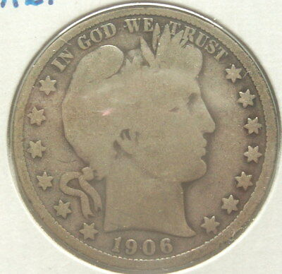1906 Silver Barber Half Dollar Beautiful Coin