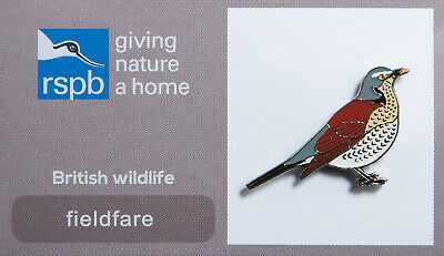 RSPB Pin Badge | fieldfare GNAH (00182)