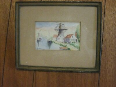 M. Huber Antique Picture 1911 Signed