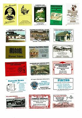 20 Bouldens Match Matchbox labels depicting Advertising Fishermans Return etc