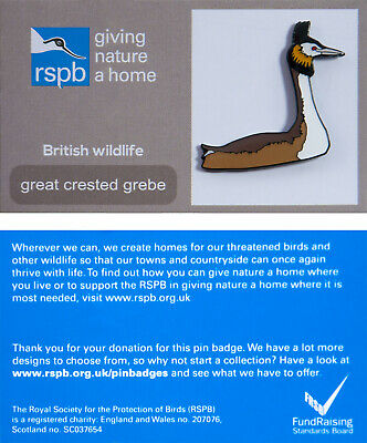 RSPB Pin Badge | great crested grebe GNAH (00813)
