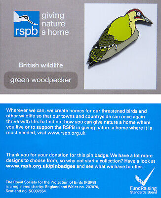 RSPB Pin Badge | green woodpecker GNAH (00872)