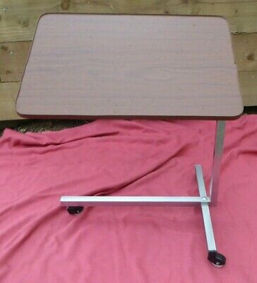 Adjustable Swivel Table Tilting Table Top Adjustable Height On Wheels Bed Table