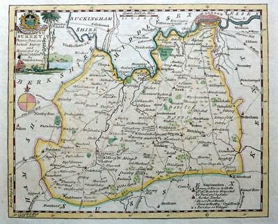 SURREY LONDON   BY THOMAS KITCHIN GENUINE ANTIQUE COPPER ENGRAVED MAP  c1769
