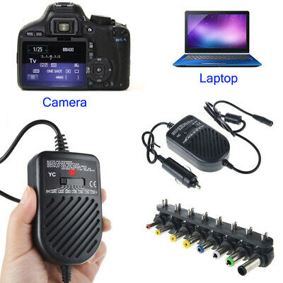 Universal DC Auto Car Power Charger Adapter For Laptop PC Nikon Cannon Camera
