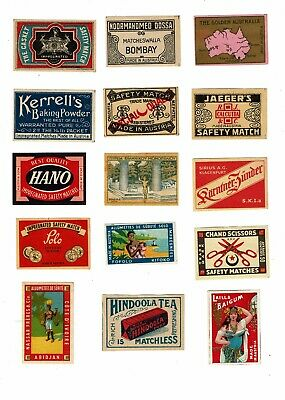 15 Old Austria c1900s matchbox labels The Golden Australia & Various themes