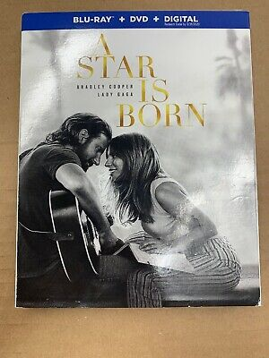 A Star Is Born(Blu-Ray+Dvd+Digital) W/slipcover New