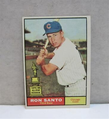 RON SANTO 1961 Topps #35  Rookie Card Chicago Cubs EX-MT 6