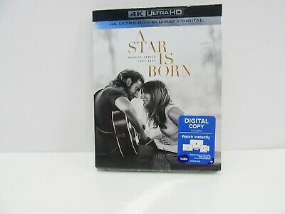 A Star is Born (4K Ultra HD + Blu-ray + Digital, 2019) Factory Sealed w/Slip!!!