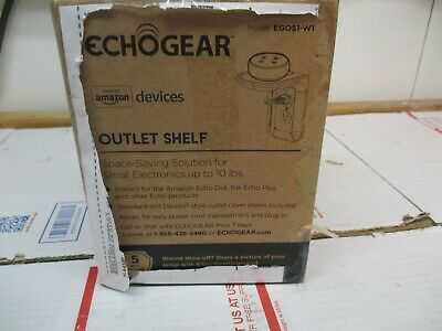 Echogear Space Saving For Small Electronics Outlet Shelf Egos1-W1 Free Ship