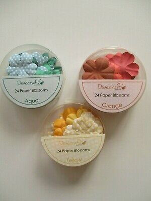 3 packs  Dovecraft Paper Flowers