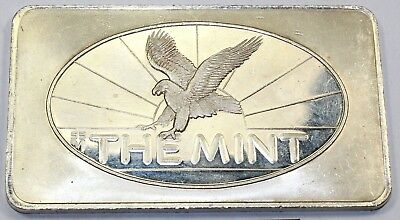 Five Troy Ounce The Mint SSM Eagle 5 oz .999 Fine Silver Bar