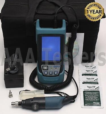 EXFO FIP-400 Fiberscope Optical Inspection Probe & Viewer Kit 200X FIP FIP400