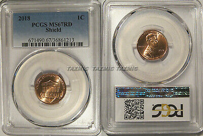 2018 P Lincoln SHIELD Cent 1c PCGS MS67RD