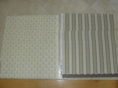 Dollhouse Miniature 6 Sheets of Wallpaper 3 of Each Design by Mini Graphics