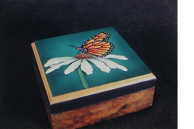 "Lydia Steeves tole painting pattern ""Monarch Butterfly Coaster Set"""