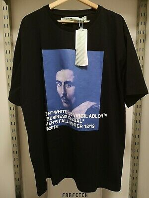 dcec53db OFF-WHITE C/O VIRGIL Abloh Bernini-Print Cotton Oversized T-Shirt ...