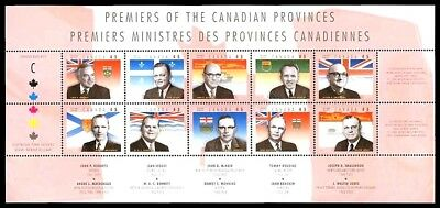 Canada Stamp #1709 - Provincial Premiers (1998) 10 x 45¢ Full Pane of 10 MNH