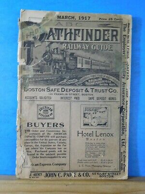 ABC The Pathfinder Railway Guide 1917 March New England Official Guide