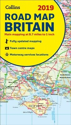 Collins Map Of Britain 2019