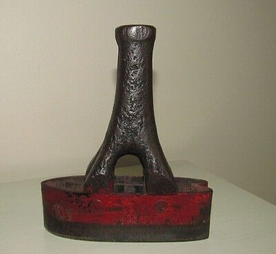 Antique Vintage Leather Punch Cast Iron Tool Rustic Old