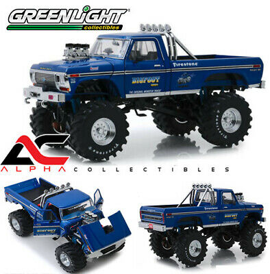 "Presale Greenlight 13537 1:18 1974 Ford F-250 Bigfoot #1 48"" Tires Monster Truck"