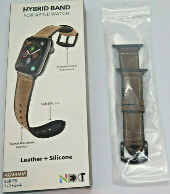 NEXT Hybrid Band Leather BROWN for Apple Watch Series 1 2 3 4 42/44MM OPEN BOX