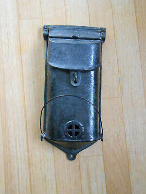 Griswold Cast Iron Wall mount Mailbox w wire paper holder