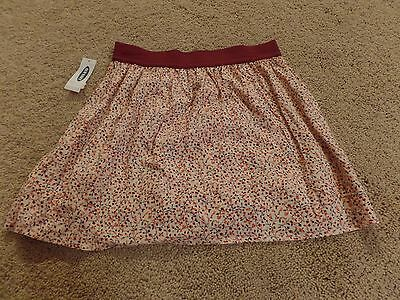 Girls, Old Navy, Skirt, Pink Floral, Light Pink w/Flowers, Size:8R (M), NWT