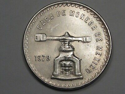 1979 Mexico Silver Scale Onza Coin. 1 Troy oz.  #3