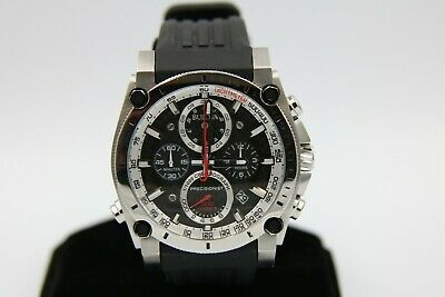 Bulova Precisionist 98B172 Wrist Watch for Men Rubber Strap 47mm