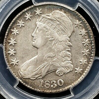 1830 Capped Bust Half Dollar, Overton O-106 - PCGS XF45 - Small 0