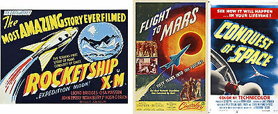 ROCKETSHIP XM 1950,FLIGHT TO MARS 1951,CONQUEST OF SPACE 1955 Rockets to Space!